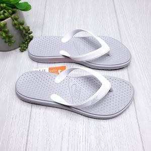 Nike Solay Gray Thong Flip Flop Sandals NWT